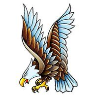 Vintage Eagle Temporary Tattoo