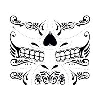 Day of the Dead Web Temporary Tattoo