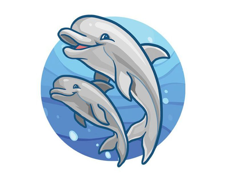 Swimming Dolphins Temporary Tattoo image number null