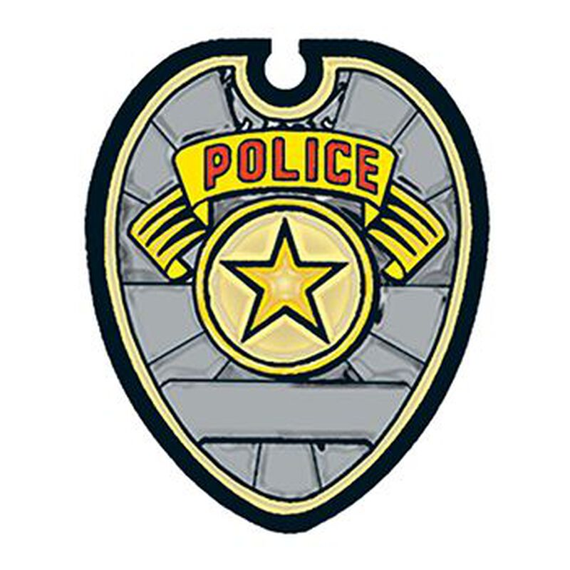Police Badge Temporary Tattoo image number null