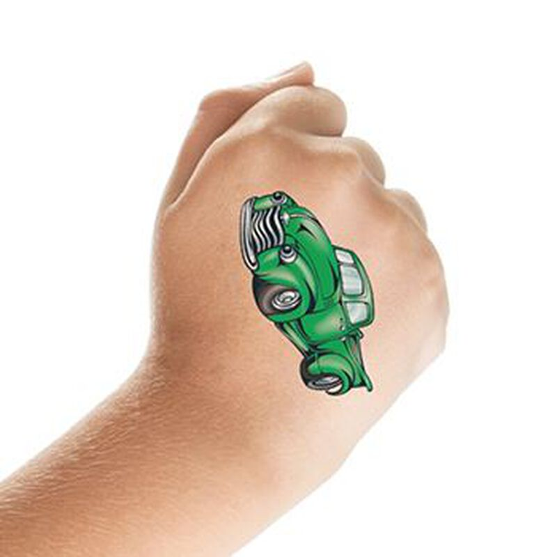Green Pickup Truck Temporary Tattoo image number null