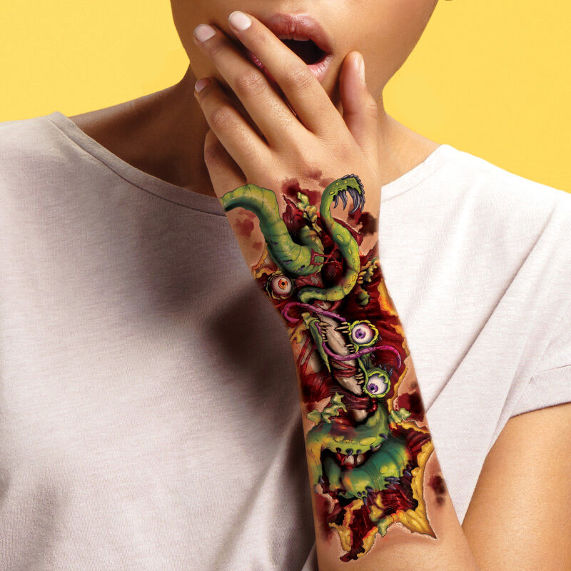 Creature Tentacles Arm Wound Costume Tattoo image number null