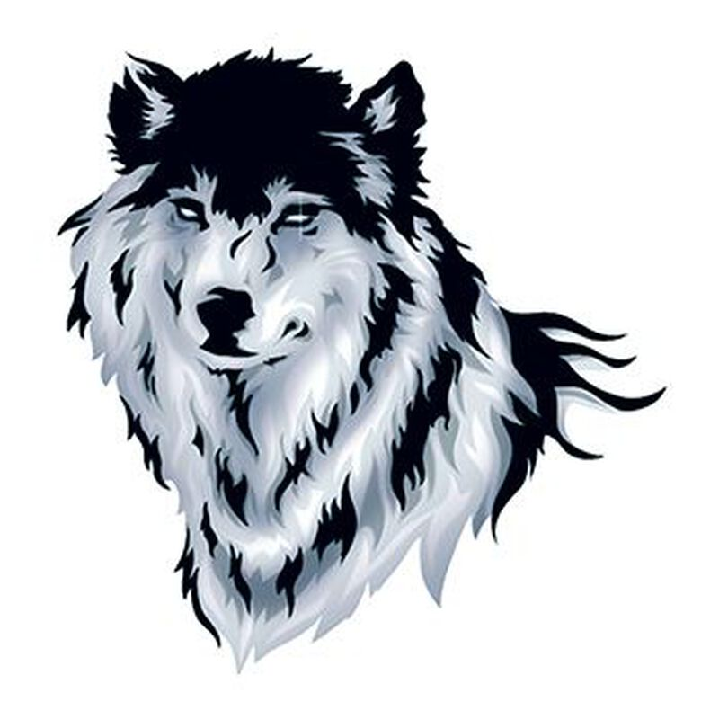 Wolf Temporary Tattoo image number null