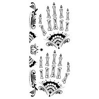 Day of the Dead Fancy Black and White Hand Temporary Tattoo