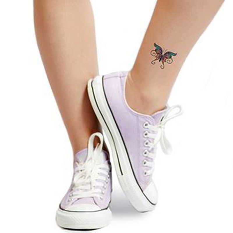Butterfly with Swirls Temporary Tattoo image number null