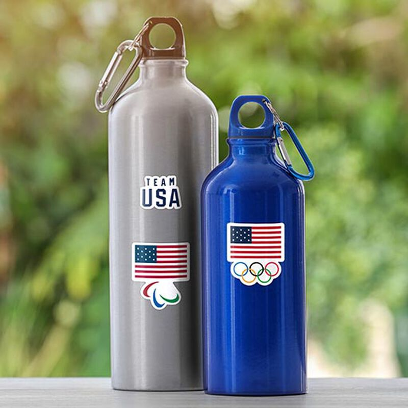 team usa olympics and paralympics stickers on bottles image number null
