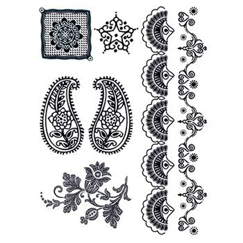 Henna: Midnight Temporary Tattoo Set image number null