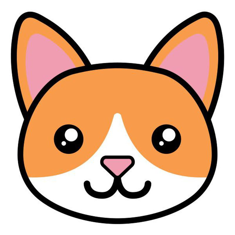 Tabby Cat Face Temporary Tattoo image number null