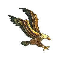 Soaring Flying Eagle Temporary Tattoo