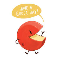 Have A Gouda Day Temporary Tattoo