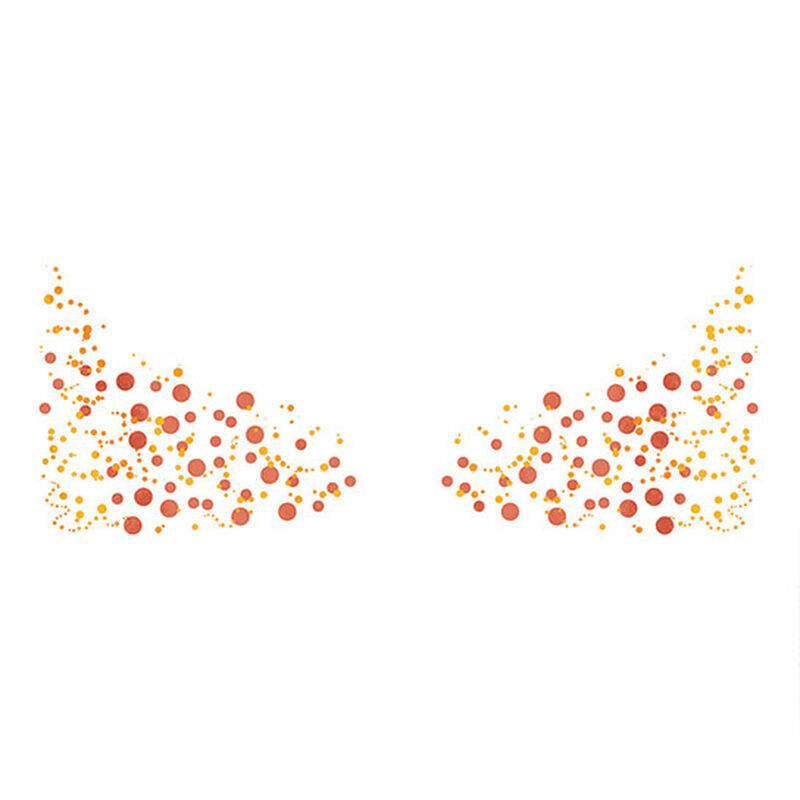 Metallic Flashy Freckles Face Temporary Tattoo - Gold & Red (Large) image number null