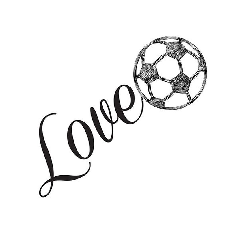 Love Soccer Temporary Tattoo image number null