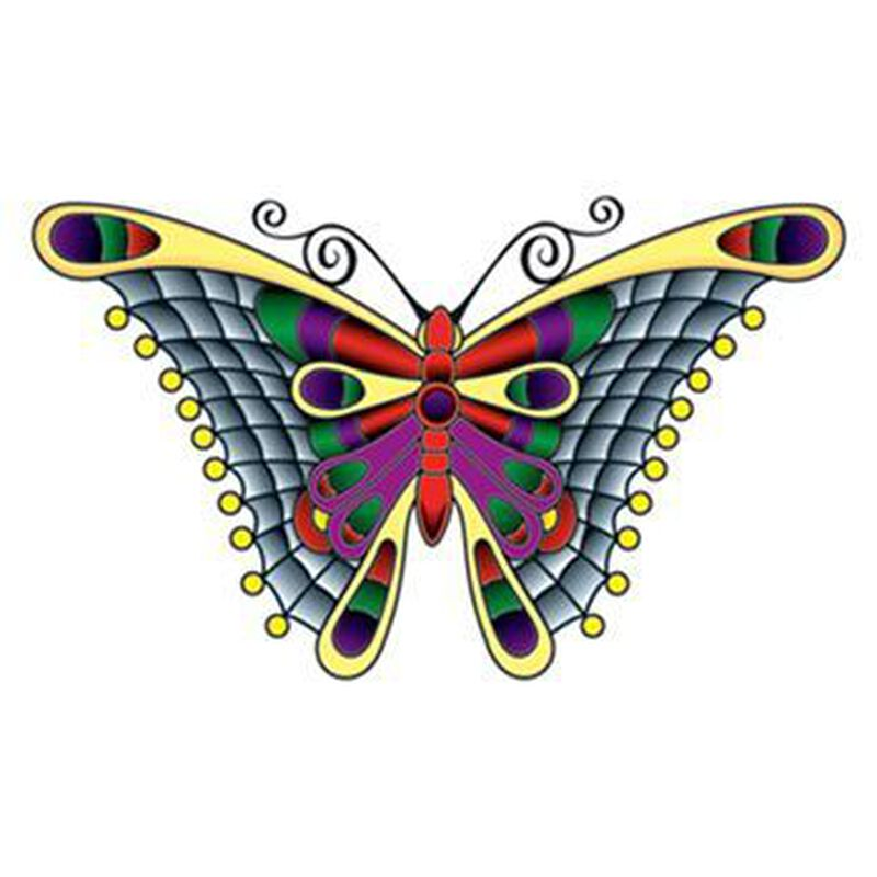 Stained Glass Butterfly Temporary Tattoo image number null