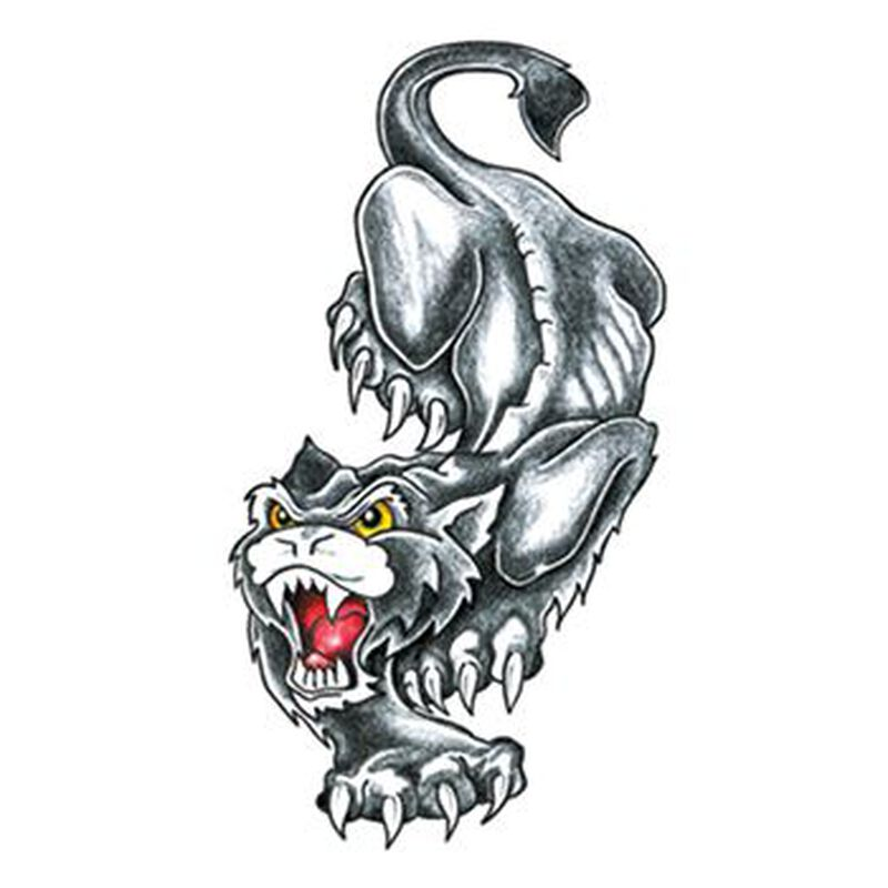 Traditional Black Panther Temporary Tattoo image number null