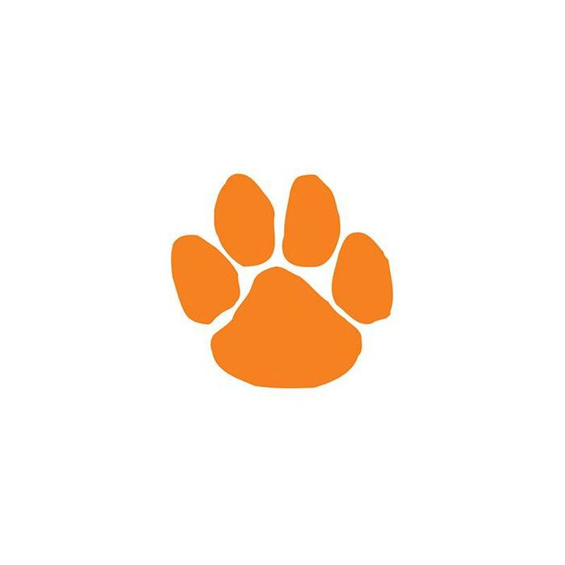 Orange Paw Print Temporary Tattoo image number null