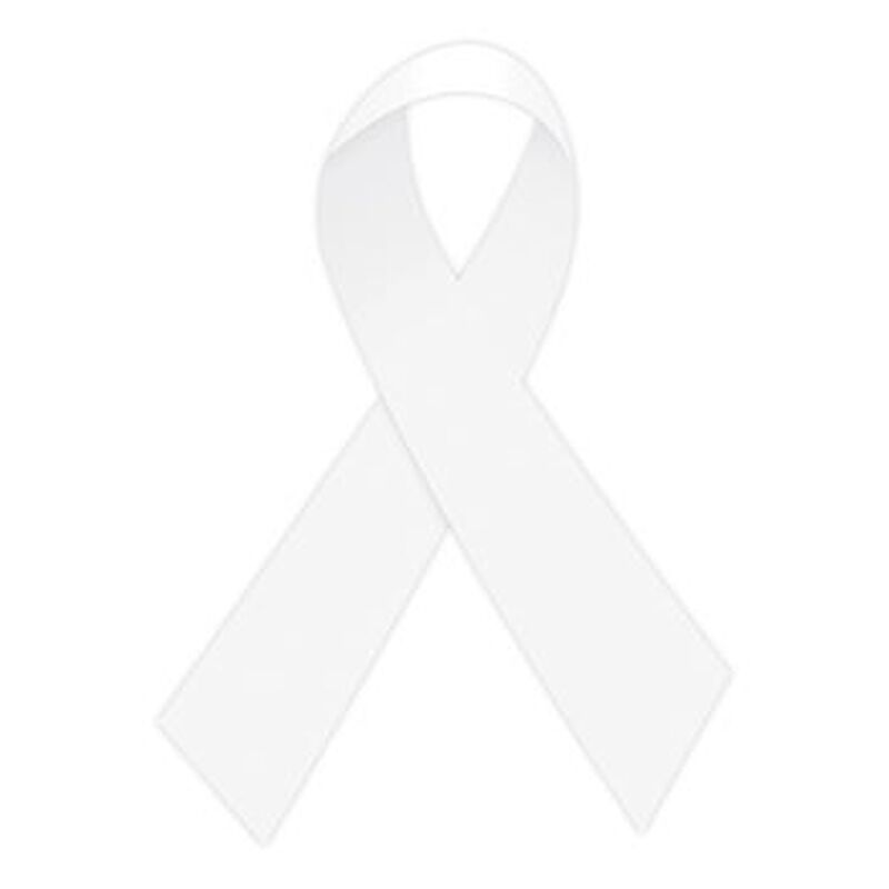 White Awareness Ribbon Temporary Tattoo image number null