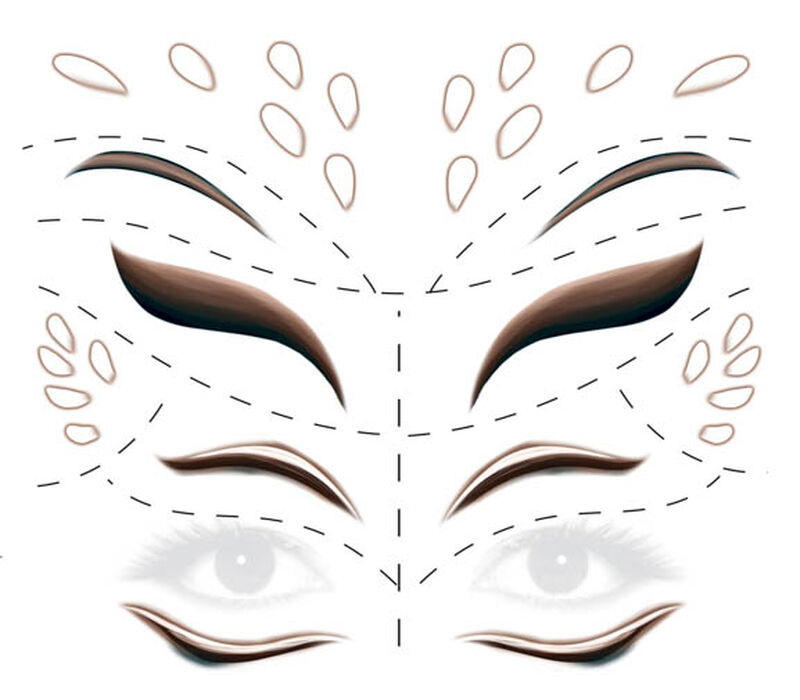 Deer Face Forehead and Eyes Temporary Tattoo image number null