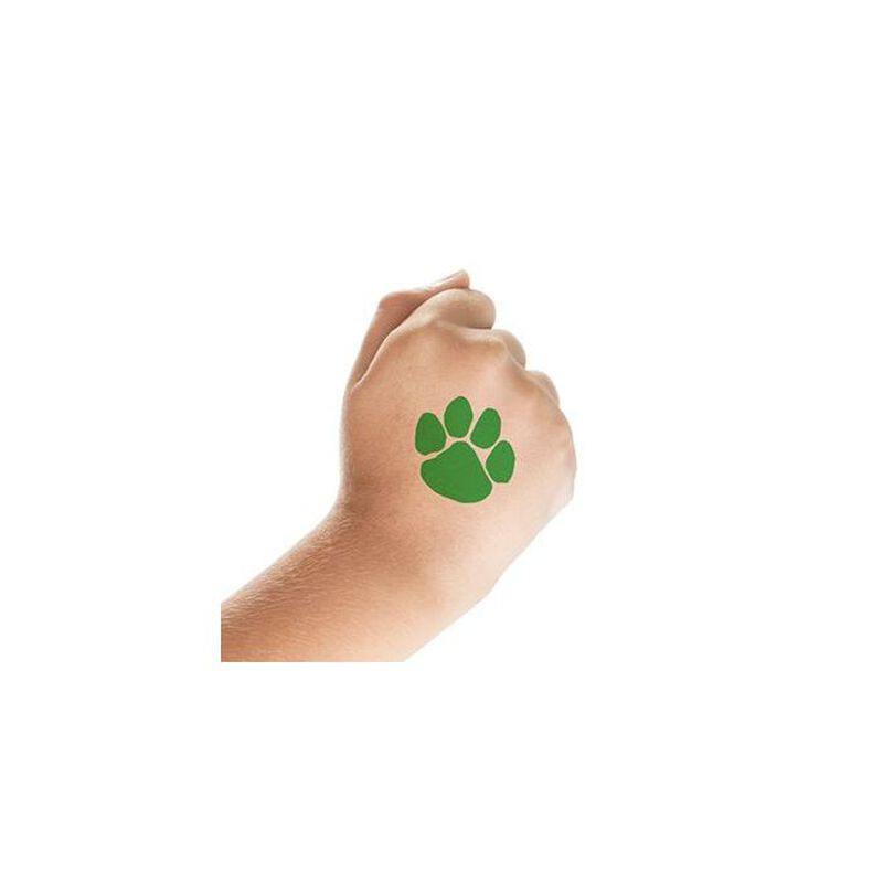 Green Paw Print Temporary Tattoo image number null