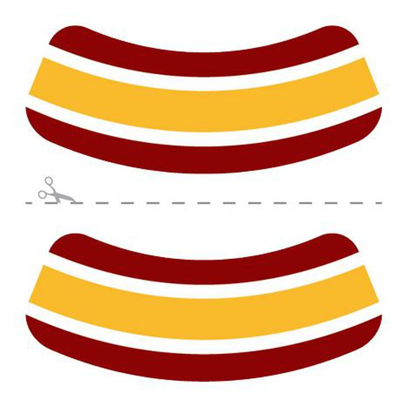 Maroon, Gold & White Eye Black Temporary Tattoos image number null
