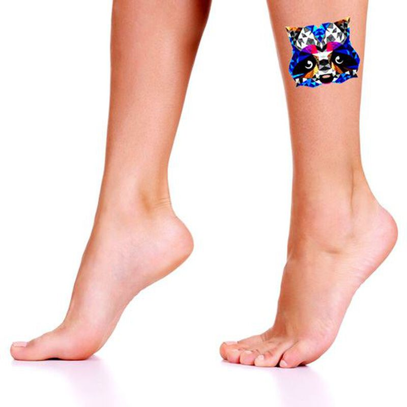 Metallic Racoon Temporary Tattoo image number null