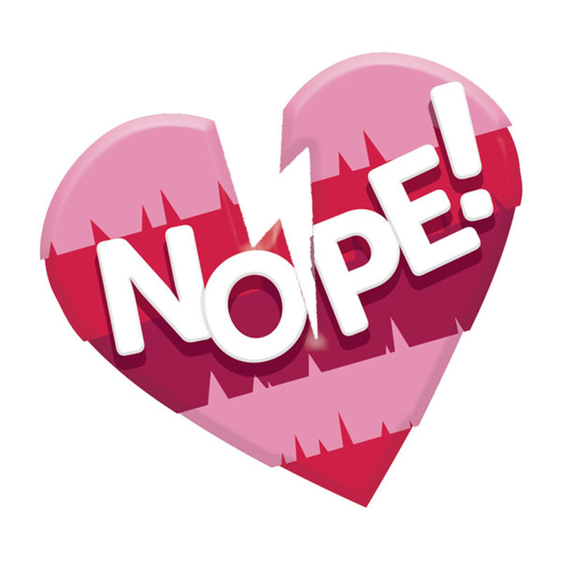 Anti-Valentine's Day Nope Broken Heart Temporary Tattoo image number null