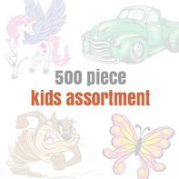 Assorted Temporary Tattoos for Kids (500 tattoos)