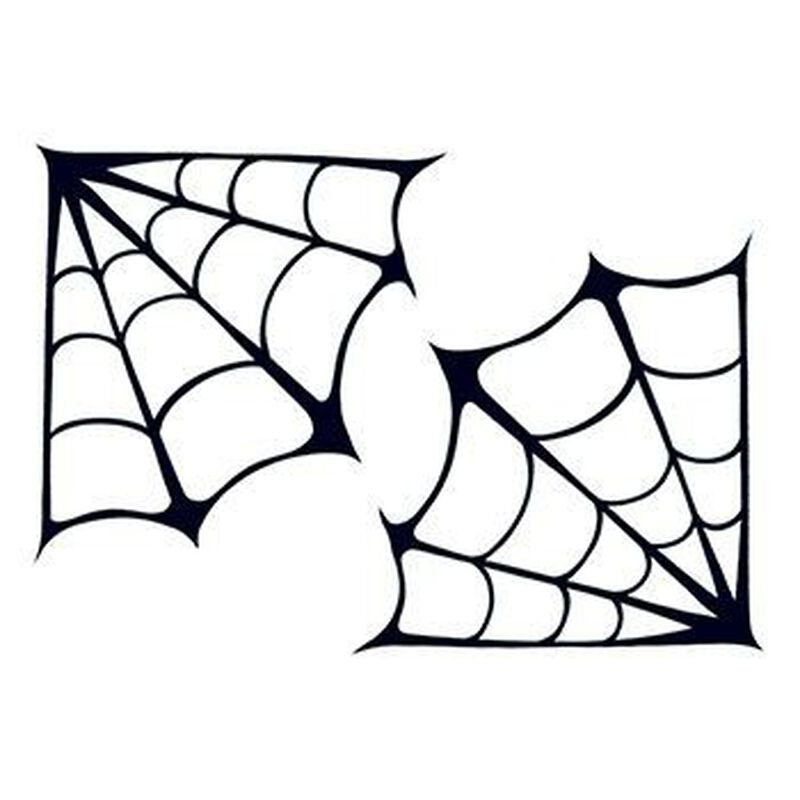 Spooky Spider Webs Temporary Tattoo image number null