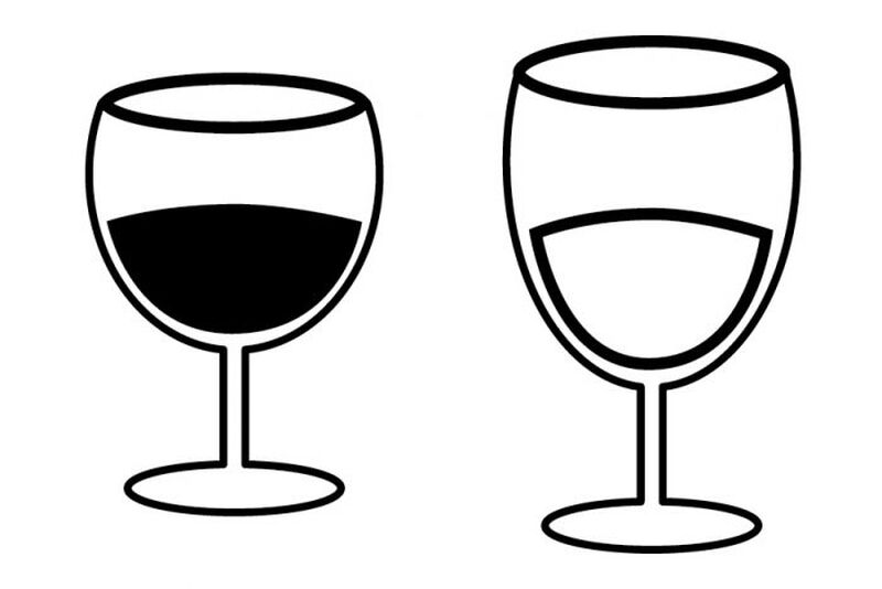 Red & White Wine Glass Temporary Tattoo image number null