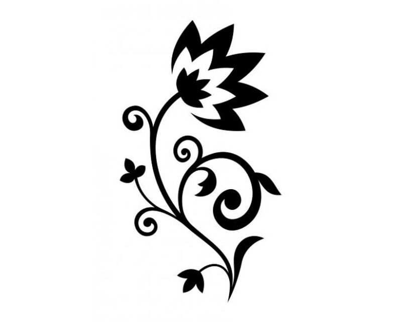Floral Blossom Temporary Tattoo image number null