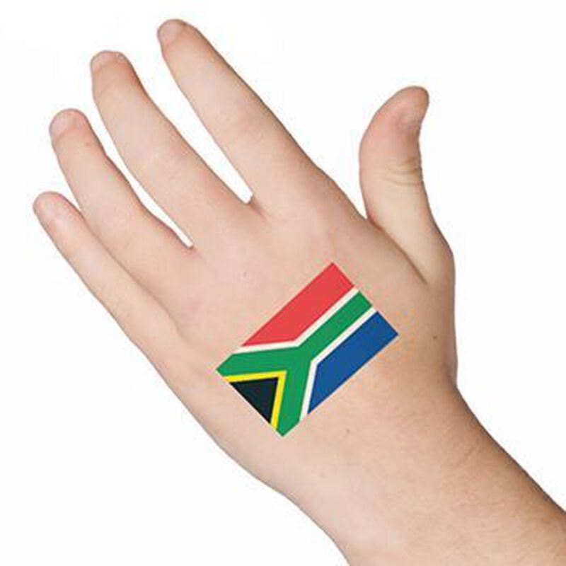 South Africa Flag Temporary Tattoo image number null