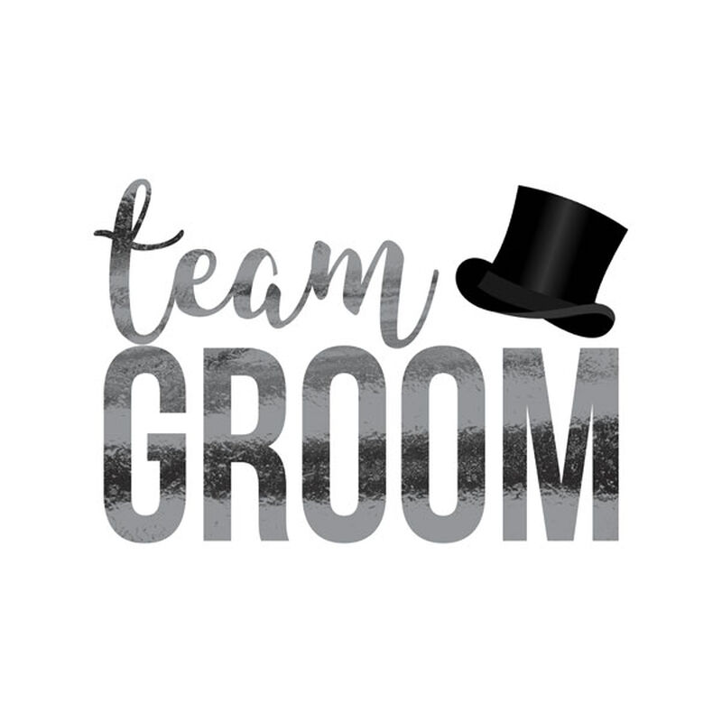 Metallic Team Groom Temporary Tattoo image number null