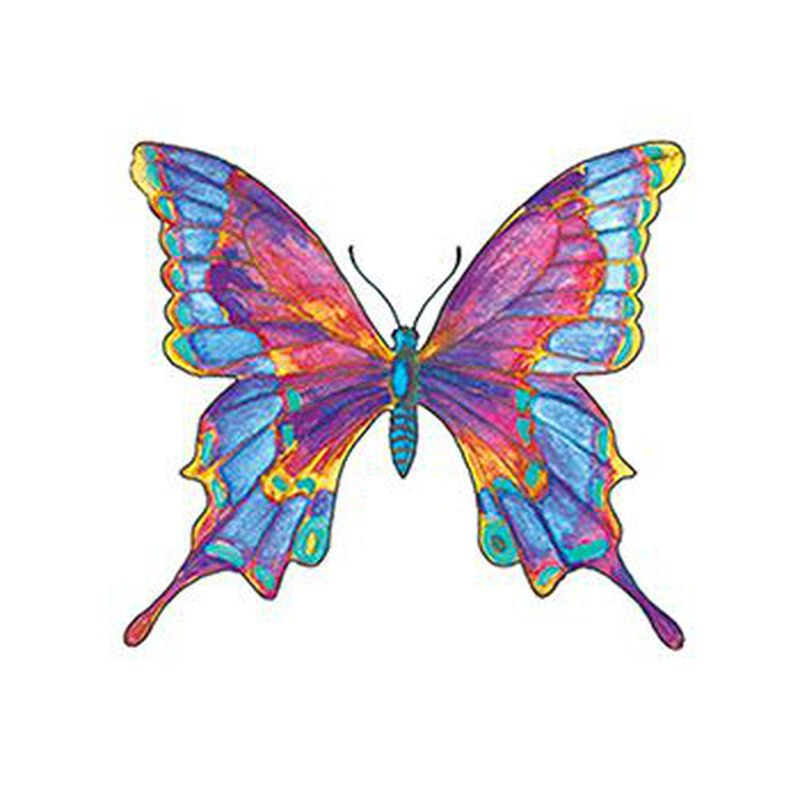Multicolored Butterfly Temporary Tattoo image number null