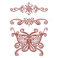 Henna: Red Butterfly Temporary Tattoo