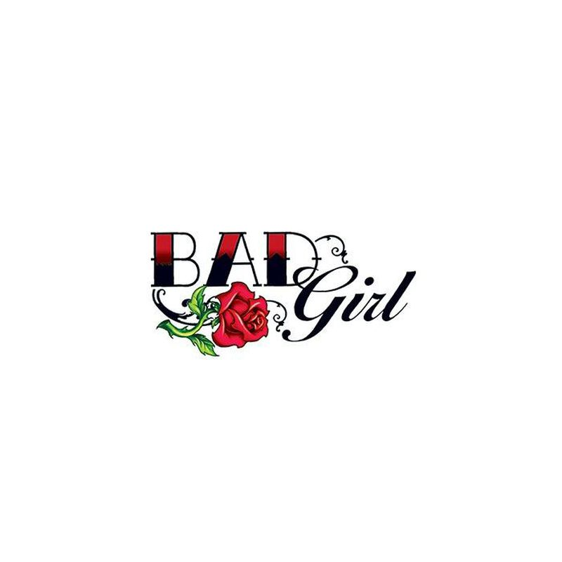 Bad Girl Rose Temporary Tattoo image number null