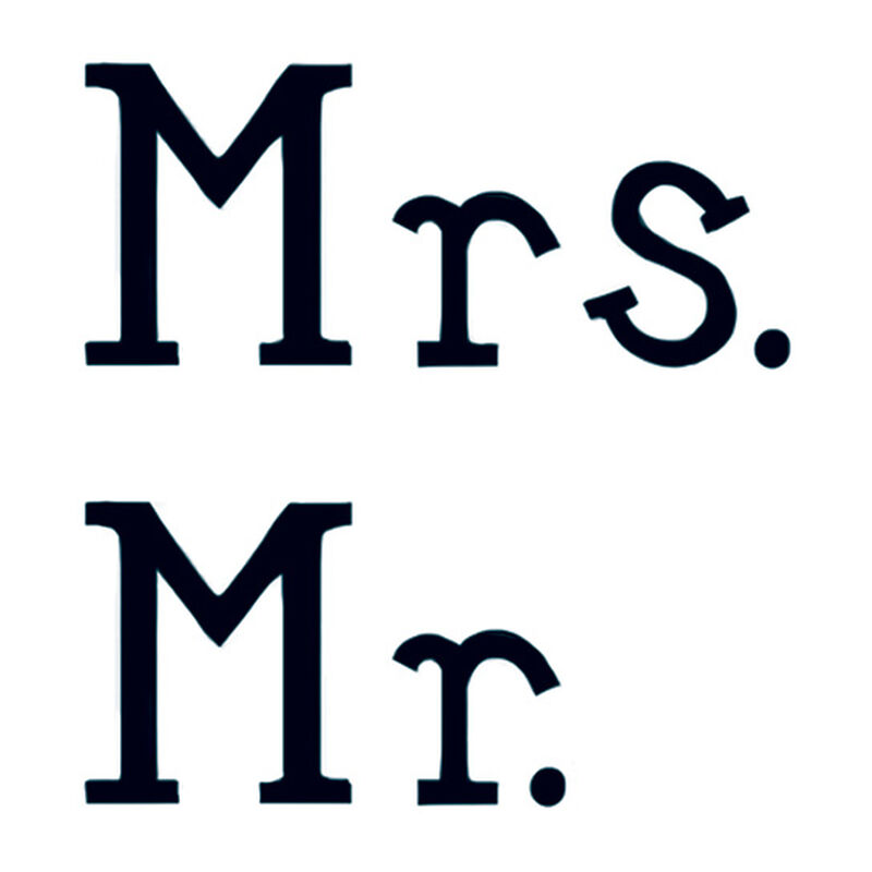 Mr. & Mrs. Temporary Tattoos image number null