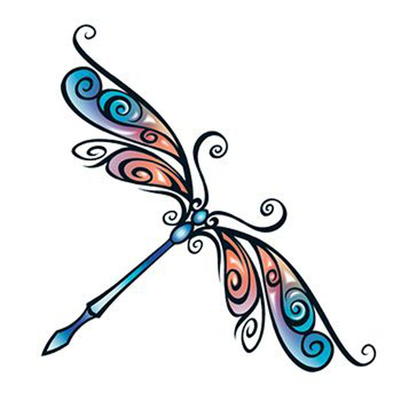 Tribal Dragonfly Temporary Tattoo image number null