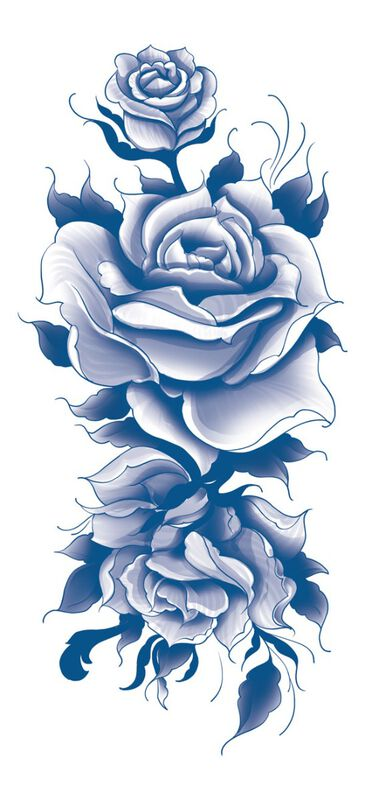 Classic Blue Roses Sleeve image number null