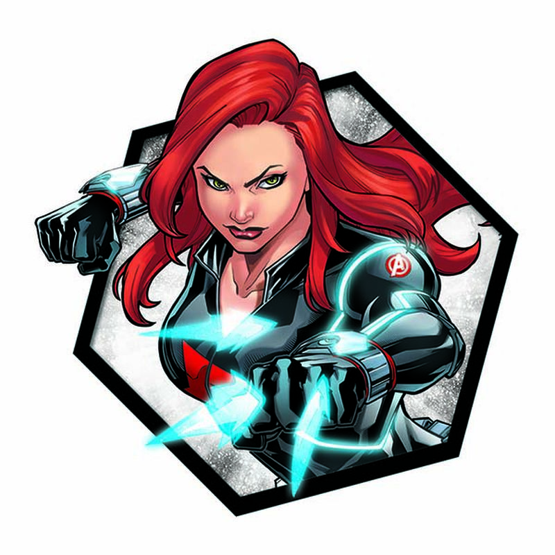 Avengers Black Widow Badge Temporary Tattoo image number null