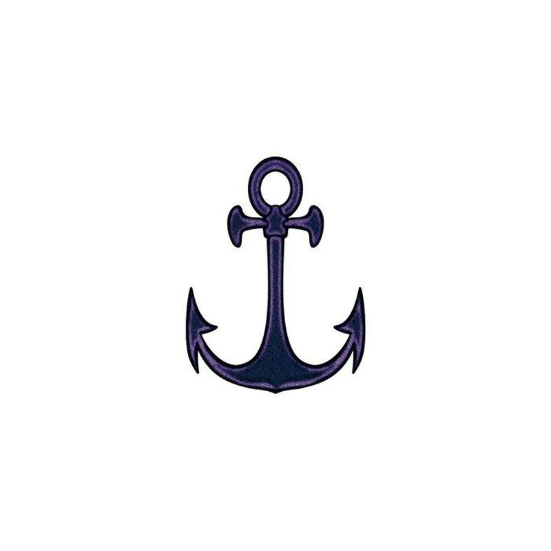 Black Anchor Sailor Temporary Tattoo image number null
