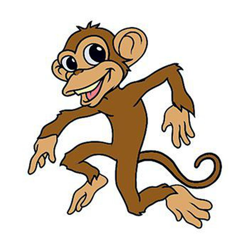 Dancing Monkey Temporary Tattoo image number null