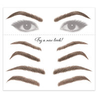 Women's Brunette Eyebrow Temporary Tattoos