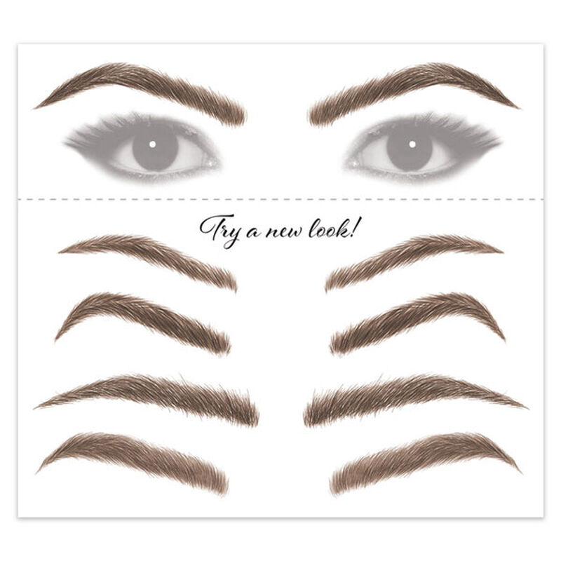 Women's Brunette Eyebrow Temporary Tattoos image number null