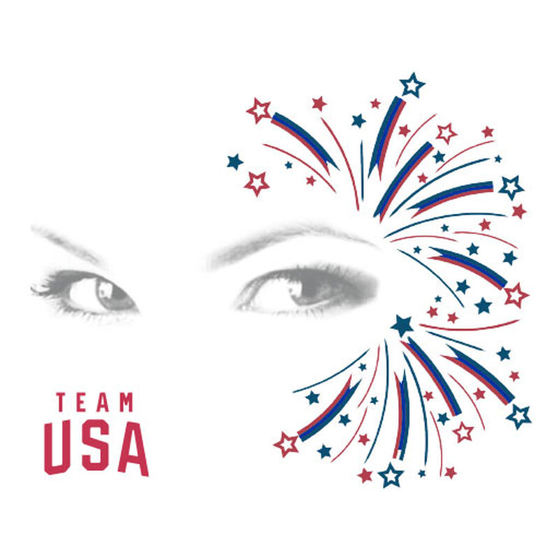 team usa fireworks face tattoo image number null