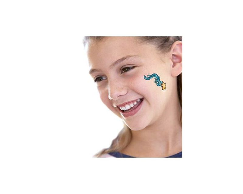 Flaming Shooting Star Temporary Tattoo image number null