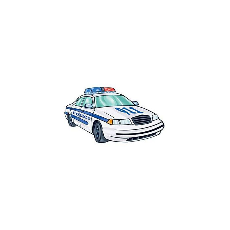 Police Car Temporary Tattoo image number null