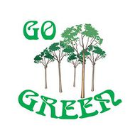 Go Green Trees Temporary Tattoo