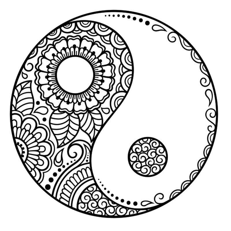 HENNA YIN &  YANG TEMPORARY TATTOO image number null