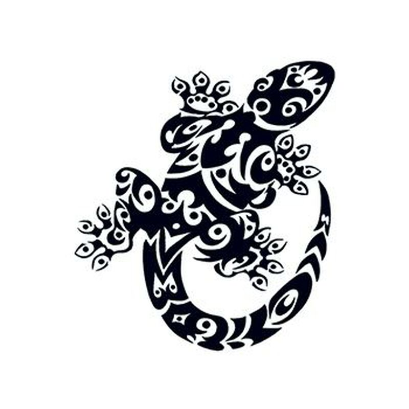 Tribal Gecko Temporary Tattoo image number null