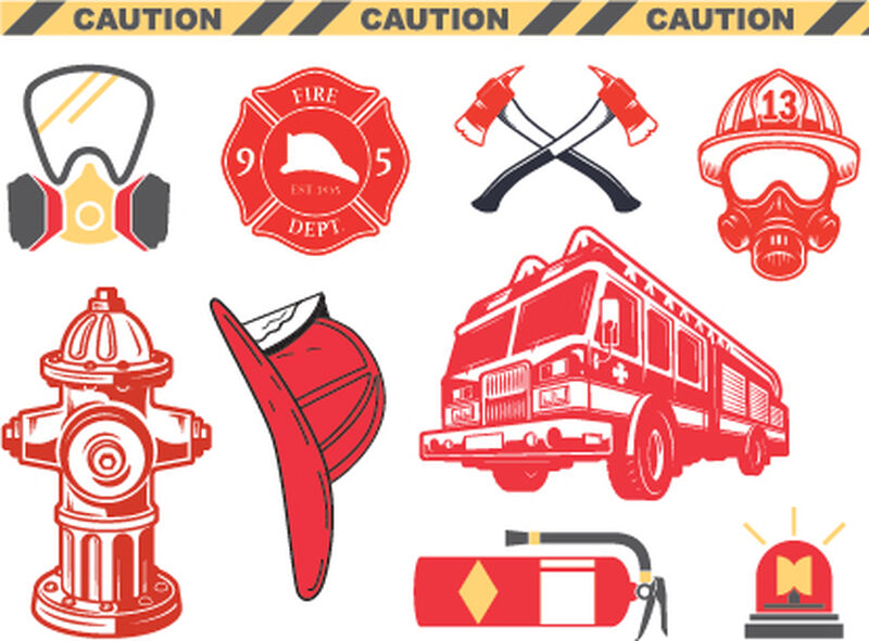 Firefighter Safety Set of Temporary Tattoos image number null