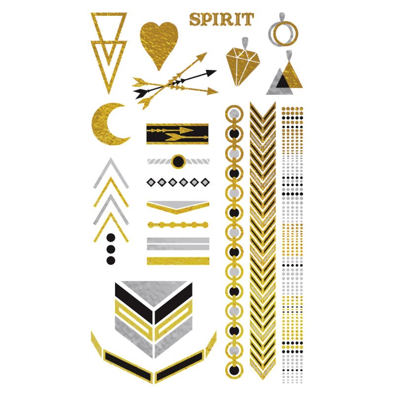 Metallic Festival Collection Temporary Tattoos image number null